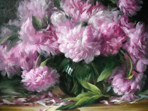 Peonies In A Glass Vase Download And Print